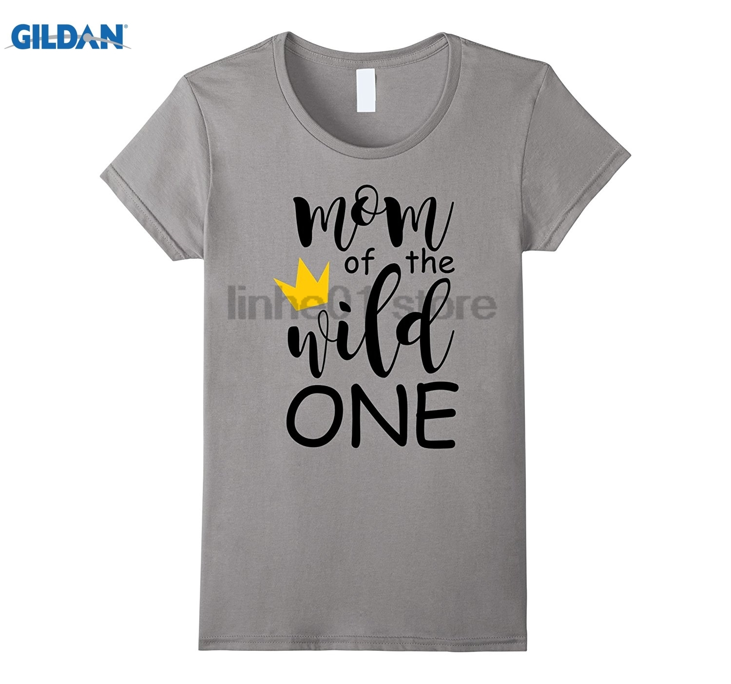GILDAN Cute Mom Of The Wild One Thing 1st Birthday Matching Shirt Hot Womens T-shirt