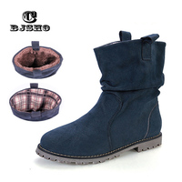 CBJSHO New Arrival Autumn Winter Girl Student Booties Fashion Wedges Women Tassel Boots Warm Shoes Flat