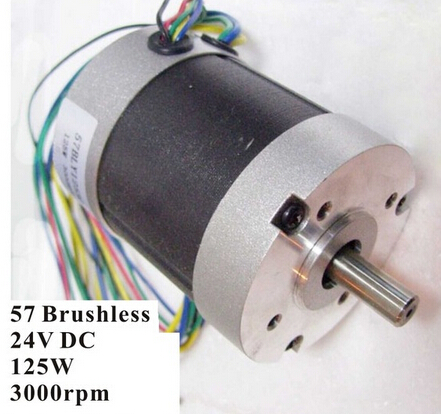 Abundant Inventory! Electric Bicycle Brushless DC Motor 125W 24V 3000rpm 3 Phase 57 BLDC Motor Nema 23 inventory accounting