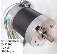 Abundant Inventory! Electric Bicycle Brushless DC Motor 125W 24V 3000rpm 3 Phase 57 BLDC Motor Nema 23