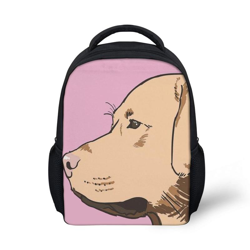 Girls Kindergaten School Bags Cute Labrador Printing Schoolbag Backpack for Kids Baby Small Bagpack Daypack Satchel