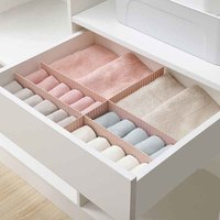 Drawer Storage Layered Partitions Combination Underwear Socks Cabinets Telescopic Movable Adjustable Plastic Stretch Divider