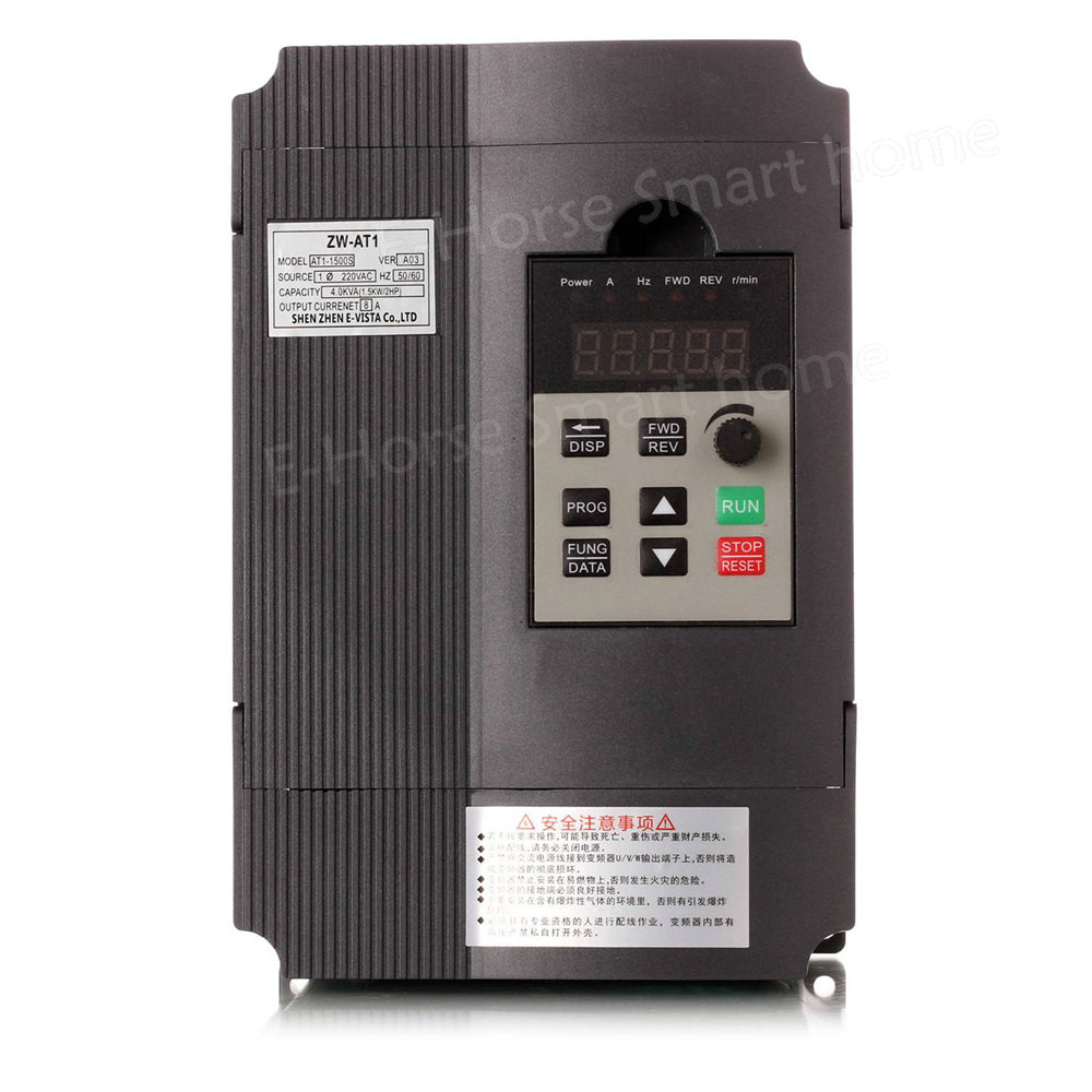 Hot Frequency Inverter Single Phase 220V In Three Phase Out 1 5KW 8Athree Phase Moto Speed