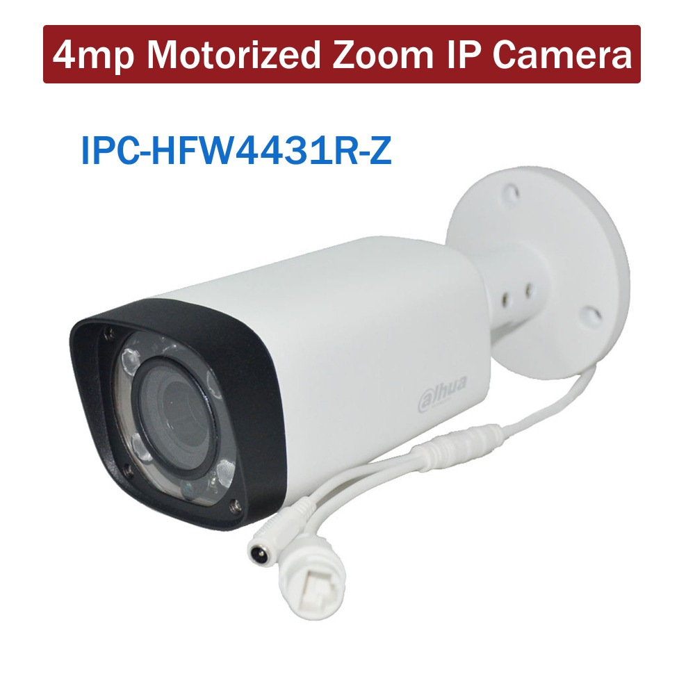 4pieces/lot Dahua 4mp IP Camera IPC-HFW4431R-Z 80m IR Motorized Zoom Auto Focus Security ...