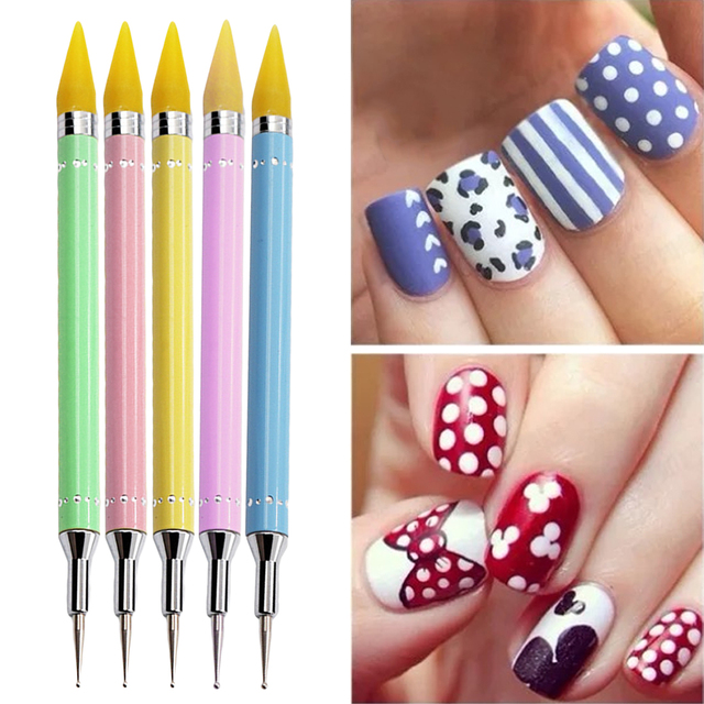 Double Point Drill Pencil Nail Accessories Manicure Tool Rhinestone ...