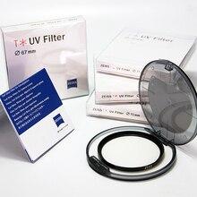 חדש Carl Zeiss T * UV מסנן 49 52 55 58mm 62 67 72 77 82 mm מקצועי רב ציפוי דק במיוחד HD MC UV עבור מצלמה עדשה