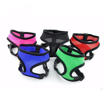 1PC Adjustable Soft Breathable Dog Harness Nylon Mesh Vest Harness for Dogs Puppy Collar Cat Pet Dog Chest Strap Leash breathable small dog pet harness and leash set puppy cat vest harness collar for small medium dogs cute safety pet chest straps