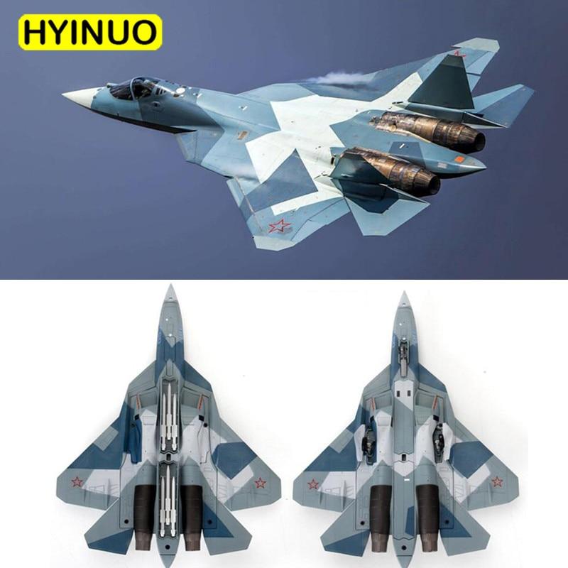 Oyuncaklar ve Hobi Ürünleri'ten Pres Döküm ve Oyuncak Araçlar'de 1: 72 Su 57/T 50 Alaşım Dördüncü Nesil Savaş Uçağı Rus Statik Simülasyon Uçak Modeli Oyuncak Statik Model ANıT'da  Grup 2