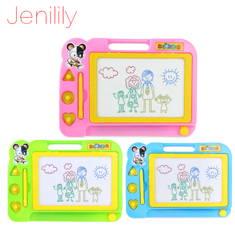Jenilily Red Blue Pink Magnetic Drawing Board Sketch Pad Doodle Writing Art Child Childr ...