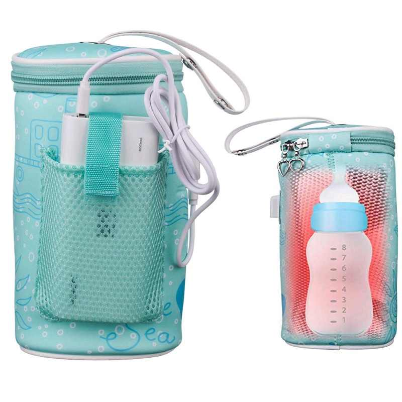 New USB Baby Bottle Warmers Infant Milk Drink Bottle Warm Thermostat Bag Portable Travel Safety Milk Bottle Heater Insulated Bag