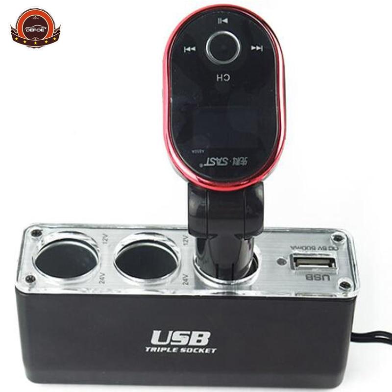 Nuevo diseño Cargador de coche tres Expansin uno USB 12-24v 5A - Accesorios de interior de coche - foto 1