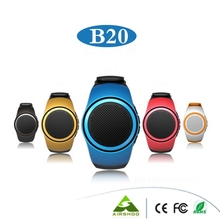 B20 Bluetooth Sports Music Speaker Watch Portable Mini Watch With Hands-free EDR Sport Speaker TF Card FM Audio Radio Speakers
