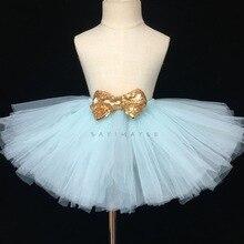 302d11a5b Encantador niñas púrpura Tutu falda chicas esponjoso de tul vestido de  Ballet Tutus con lentejuelas de oro arco niños fiesta bri.