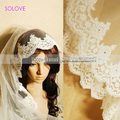 2016 1M Long One Layer Silk Short Veil Lace Edge Elegant White Lace Short Bridal Veil 2016 For Wedding Event Wedding Accessories
