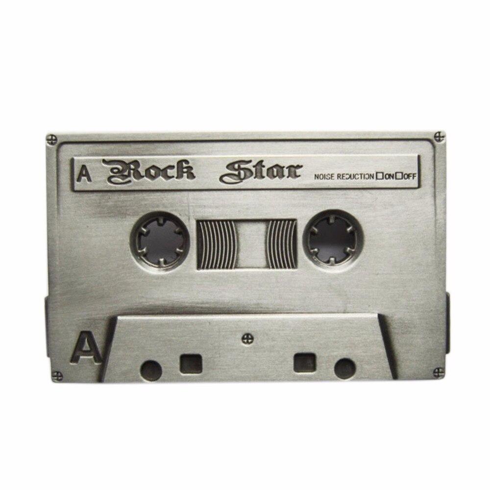 Snelle Levering Mannen Gesp Retail Verdeel Rock Muziek Cassette Tape Gesp Buckle-mu026 Gratis Verzending Ook Voorraad In Ons