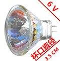 6v лампа для микроскопа  светильник  лампа  источник  маленькая чашка  галогенная Вольфрамовая лампочка  специальный светильник