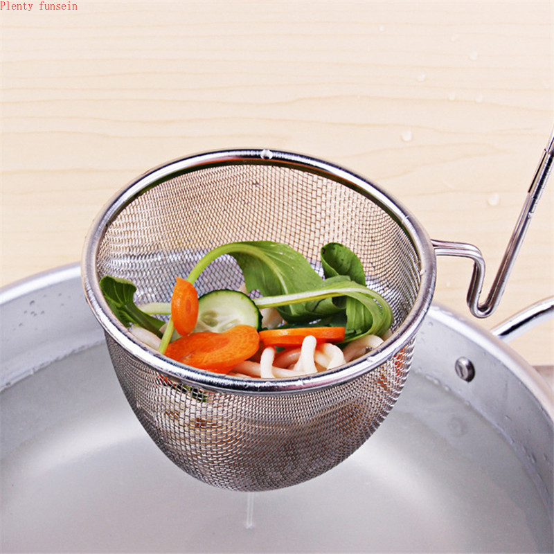 Strainer Colander Scoop 304 stainless steel drain oil Spicy Hot Pot juice residue sift noodle soybean milk filter Kitchen Sieve in Colanders Strainers from Home Garden