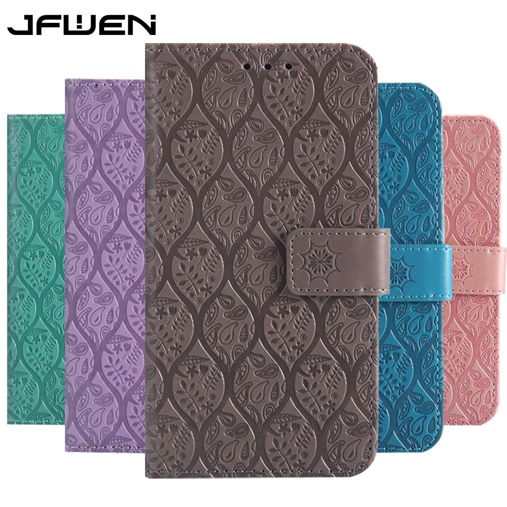 JFWEN Leather Cases For Samsung A7 2018 Case 3D Printing Flip Wallet Phone Back For Samsung Galaxy A7 2018 A750 Case Cover(China)