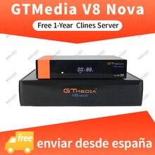 1 Year Europe Cline Genuine GTMedia V8 Nova Built-in WiFi DVB-S2 FTA  Satellite Receiver Full HD Support Powervu Biss key Decoder