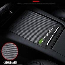 Жеребенок горения 1 шт. углеродного волокна центральной консоли коробка Стикеры подлокотника для Tesla модель S модель X стайлинга автомобилей наклейка с защитой от царапин