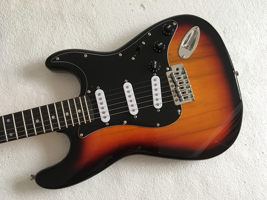 electric guitar, In stock, speed delivery, sunset color electric guitar, Free shipping(China)