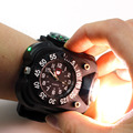 2015 New Military Men Wristwatch Outdoor Sport Watch Flashight Compass Silicone Band relogio masculino Quartz Watch Retail Box