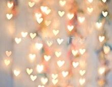 Золотой Боке Свадебная фотография фон дети пользовательские фото prop фоны D-4127