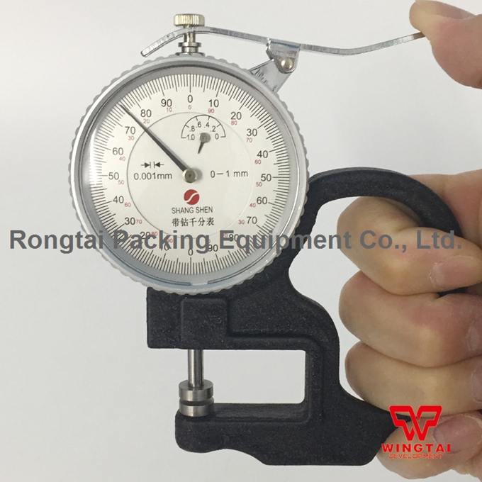 W30mm Dial Thickness Gauge For Paper, Film Measuring Range 0-1mm/0-5mm 0 001mm electronic thickness gauge 0 1mm digital thickness meter tester for paper film bc04