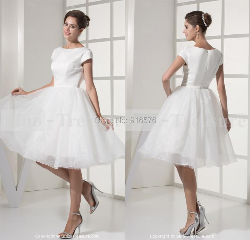 2015 Cheap Wedding Dress With Sleeveless Ball Gown Short Skirt Under