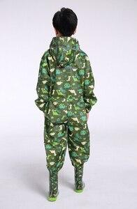 Image 2 - dinosaur boys raincoat for children,hood waterproof rain coat for children jumpsuit rain suit,students baby rain coat poncho
