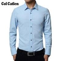 새로운 도착 드레스 셔츠 남성 패션 슬림 맞춤 남성 긴 소매 셔츠 2017 면 남성 캐주얼 셔츠 5XL Camisa Masculina