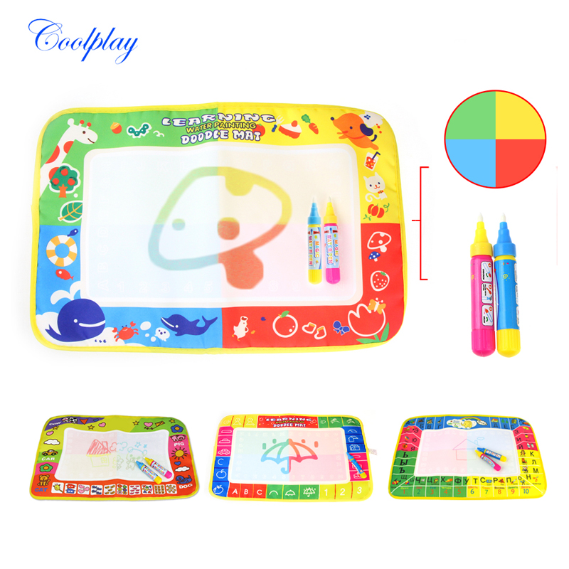 Kids Funny Magic Water Drawing Painting Writing Board Mat Pen Toy Gifts 2017