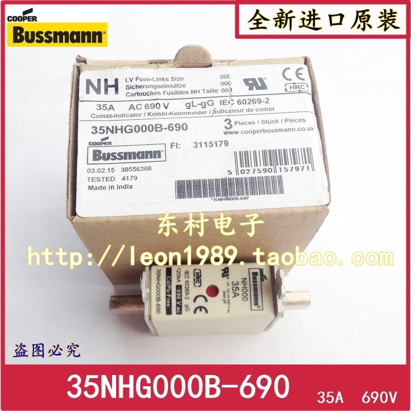 [SA]Original Bussmann Fuses 35NHG000B-690 35A 690V gL / gG NH000--5PCS/LOT[SA]Original Bussmann Fuses 35NHG000B-690 35A 690V gL / gG NH000--5PCS/LOT