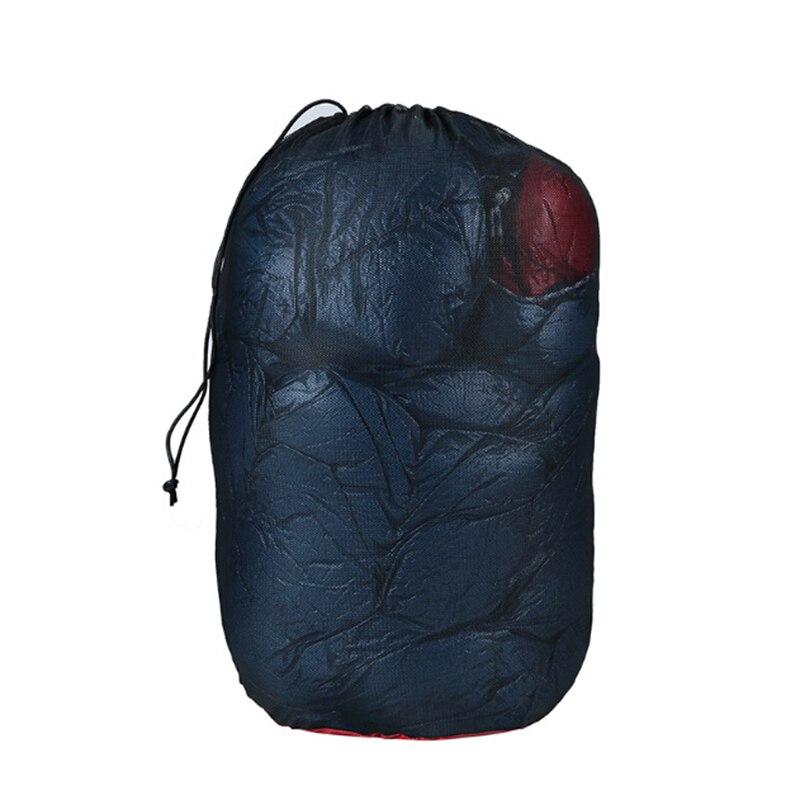 Outdoor Nylon Mesh Storage Bag Camping Hiking Fishing Travel Perspective Sleeping Bag Clothing Folding Compression Storage Bag