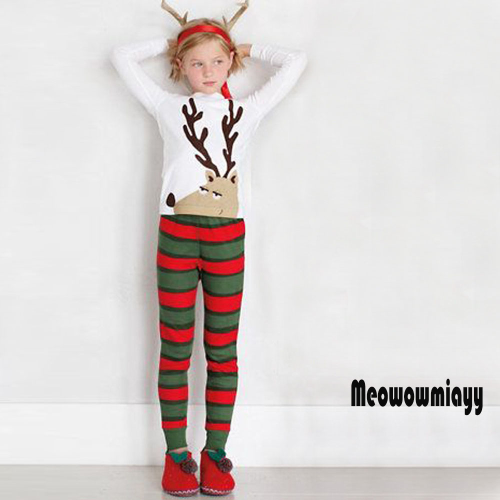 Girls clothing set winter clothes 2018 spring long sleeve cotton elk christmas children girls tracksuits casual kids sport suits