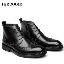 цены New Arrival  Men Ankle Boots Lace-up Pointed Toe Shoes Zipper Fashion Chelsea Boots Top Quality botines hombre