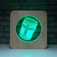 Chug Jug 3D LED Lamp Plastic Wooden Grain line Lamp Game Series USB Table Lamp for Room Decor for Holiday Day Gift Dropshipping