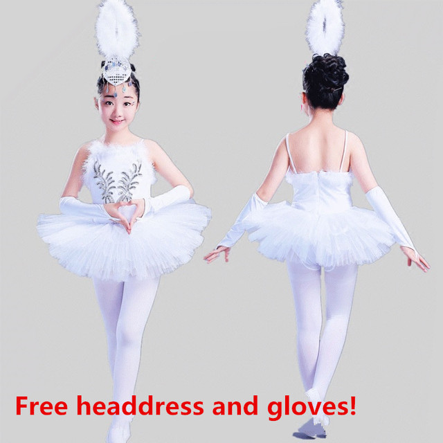 6cf25d012917 White Swan Lake Classical Professional Ballet Tutu Dancewear Girls ...