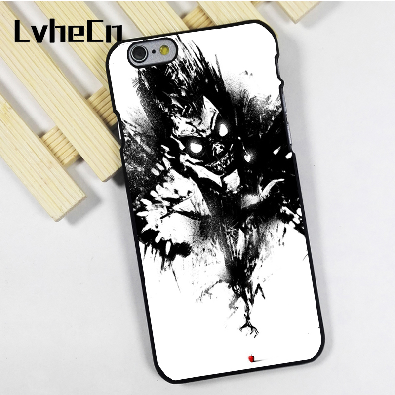 LvheCn phone case cover fit for iPhone 4 4s 5 5s 5c SE 6 6s 7 8 plus X ipod touch 4 5 6 Death Note Anime Manga Art