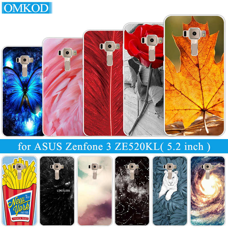 For Coque ASUS Zenfone 3 ZE520KL Plumage Phone Case 5.2inch Back Cover Soft Silicone Funda for ASUS Zenfone 3 ZE520KL Shell
