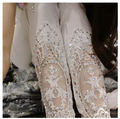 Autumn spring high quality fashion  lace diamond leggings women's sexy elastic pink Women Leggings