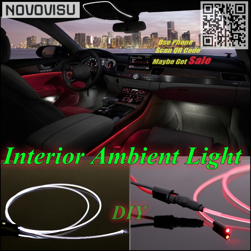 NOVOVISU For Chevrolet Lanos FSO Car Interior Ambient Light Panel illumination For Car Inside Cool Strip Refit Light Optic Fiber