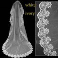 Cathedral Long Bridal Wedding Veil Tulle White/Ivory Stock Tulle Lace Cheap Fast Shipping 2017 Accessories Mariage