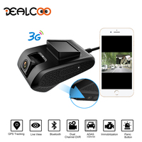 Dealcoo Motor Digital Video Recorder Dash Cam for Car Dual Lens WDR Night Vision GPS Tracker Live Video Monitoring Parking Mode