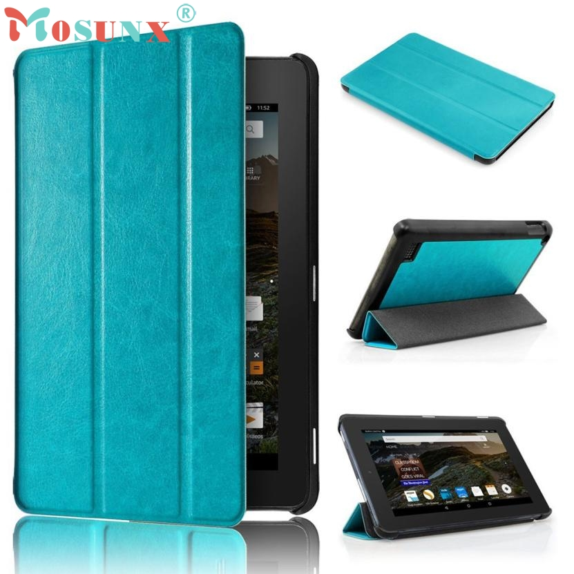 Ultra Slim PU Leather Case Stand Cover for 7 Amazon Kindle Fire HD 7 2017 Tablet