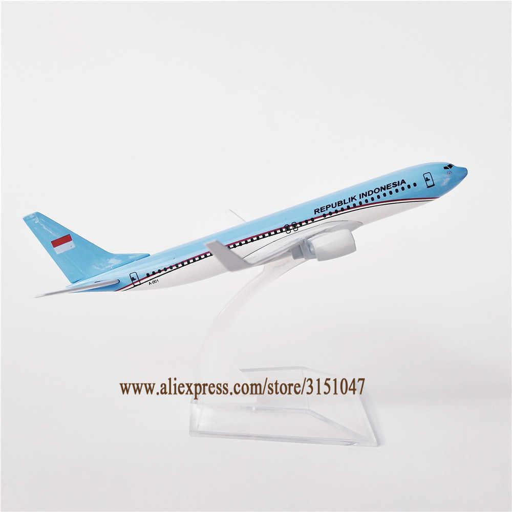 16cm Logam Air Republik Indonesia Airlines Boeing 737 B737 Airways Pesawat Model Pesawat Model Diecast Kerajinan Anak Anak Hadiah Patung Patung Miniatur Aliexpress