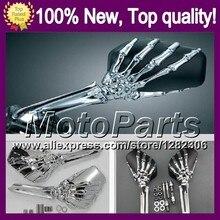 Ghost Hand Skull Mirrors For SUZUKI SV650S SV1000S 03-13 SV 650S 1000S SV650 2003 2004 2005 2006 2007 Skeleton Rearview Mirror