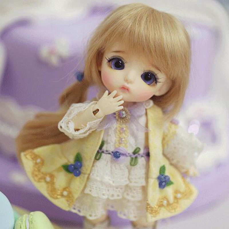1/8 BJD Doll BJD/SD Cute LOVELY Yellow S.belle Resin Joint Doll For Baby Girl Gift Present Free Shipping full set free shipping 1 4 bjd doll sd fashion chloe joint resin doll for baby girl christmas birthday present gift