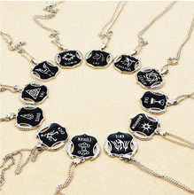 Exo Members Badge Stainless Steel Statement Necklace & Pendant O Chain Clavicle Bijoux Choker Jewelry For Women Men
