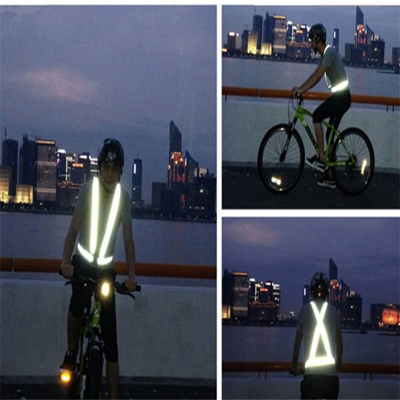 Roadway Safety Reflective Vest High Visibility Unisex Outdoor Running Cycling Safety Vest Adjustable Elastic Strap Fluorescence Work Wholesale